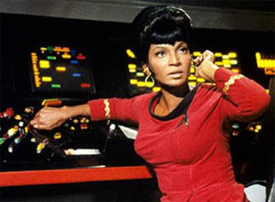 Uhura with Earpiece